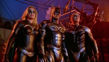 "Batman, Robin et BatGirl, du film ""Batman et Robin"""