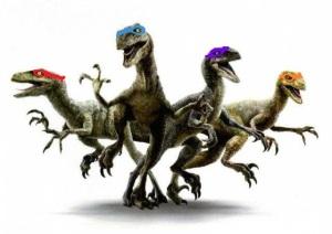 Teenage Mutant Ninja Raptors ! #RetirezMoiPaint