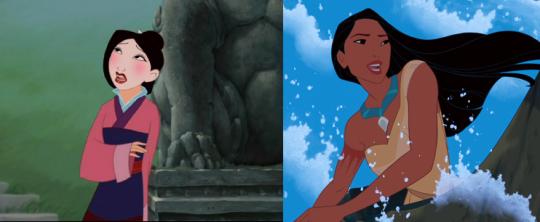 Mulan et Pocahontas chantant le poids de leurs responsabilités
