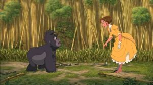 Tok face à Jane, du film Tarzan.