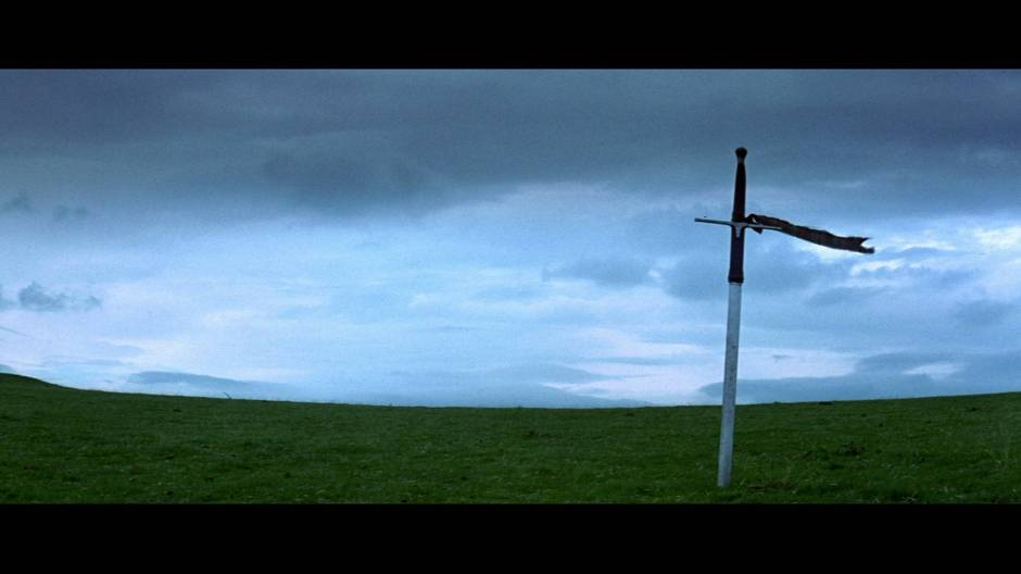 L'épée de William Wallace plantée dans le sol.
