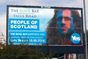 Genre ça, on pouvait le voir en septembre 2014 au moment du vote pour l'Indépendance. Neuf ans après Braveheart.