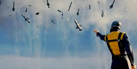 Magneto détournant des missiles pour montrer qui c'est le plus fort.