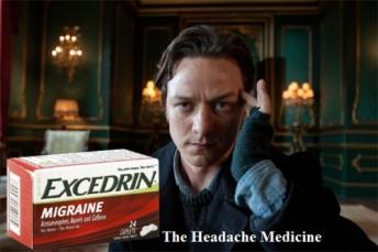 Charles Xavier victime de maux de tête