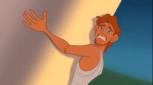 Hercule empêche un pilier de tomber?