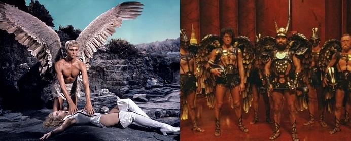Comparatif des costumes dans Barbarella et dans Flash Gordon, sorti 12 ans plus tard.