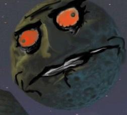 La Lune de Zelda Majora's Mask, déçue.
