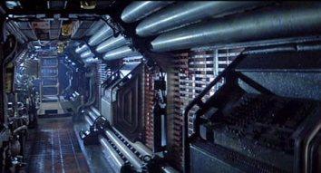 Un couloir dans Alien.