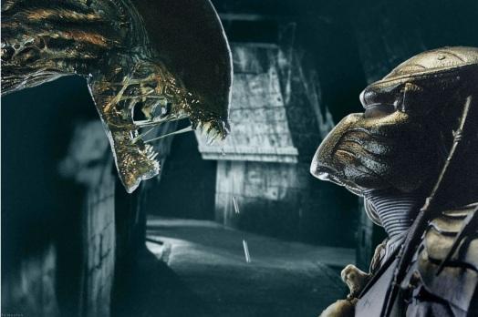 Un Alien face à un Predator