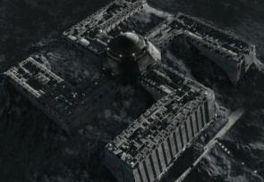 Une base lunaire en forme de croix gammée.