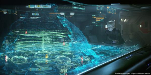 Une carte 3D telle que vue dans Prometheus