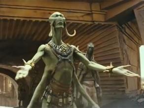 Un Thark, les quatre bras ouverts.