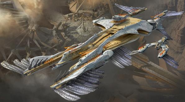Un vaisseau tel que vu dan John Carter