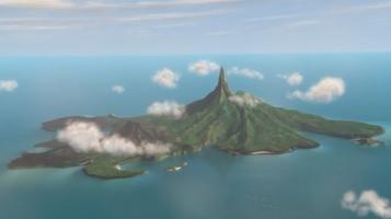 L'île des méchants, et oui, la base est sous le volcan. Classique.