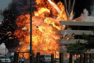 L'explosion de l'hôpital dans The Dark Knight de Nolan.