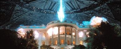 La Maison Blanche explosant dans Independence Day