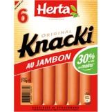 Un paquet de Knaki Herta au jambon