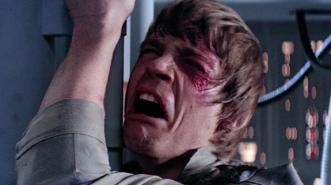 Luke Skywalker apprenant que Dark Vador est son père