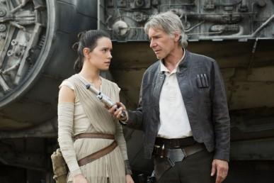 Han Solo et Rey dans Star Wars 7