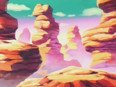 Des montagnes dans l'univers de Dragon Ball.