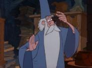 Merlin l'Enchanteur tel qu'il apparaît chez Disney