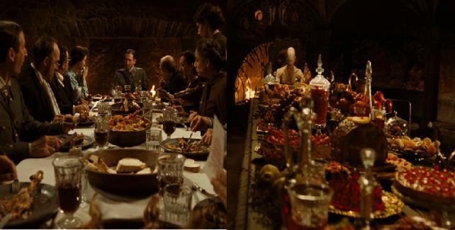 Le capitaine Vidal et l'homme pâle à table, comparés grâce à un montage.