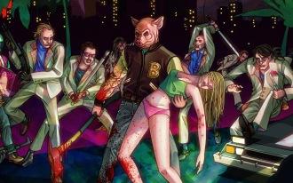 Une image du jeu de gangster Hotline Miami