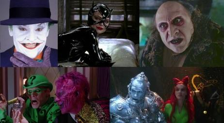 Les méchants des films Batman de Tim Burton et Joel Schumacher