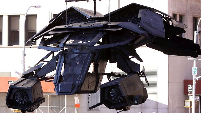 L'avion de Batman dans The Dark Knight Rises.