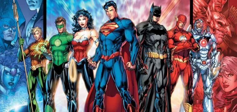 L'équipe de la Justice League dans sa série New 52
