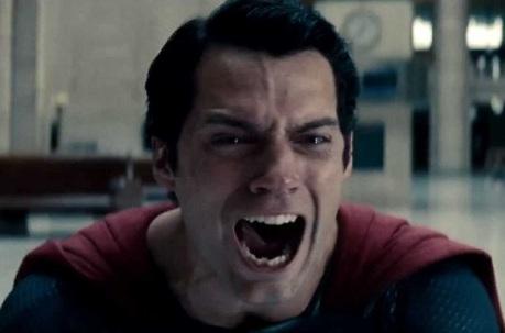 Superman en larmes.