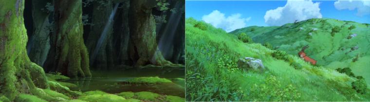 La forêt et les plaines du film, ou l'avant et après passage des humains.