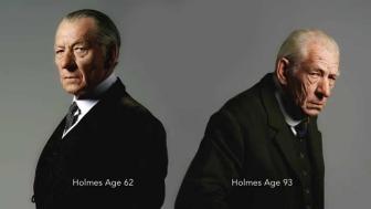 Il joue Holmes à deux âges différents d'ailleurs, et juste : admirez ce niveau de jeu d'acteur (et de maquillage) over 9000.
