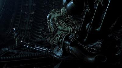 Une image d'Alien représentant le mystérieux cadavre géant trouvé dans l'épave du premier film.