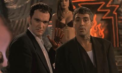 Quentin Tarantino, George Clooney et Slma Hayek dans Une Nuit en Enfer.