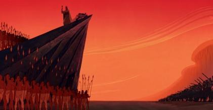 Et aucun d'entre eux n'est pacifique sur cet image à part Pocahontas, et peut-être John Smith vite fait.