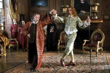 M. Jourdain et son professeur de danse, une scène inspirée du Bourgeois Gentilhomme.