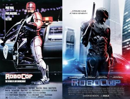 Les affiches de Robocop (1987) et Robocop (2014)