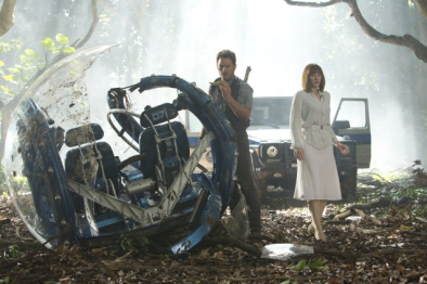 Chris Pratt et Bryce Dallas Howard dans Jurassic World