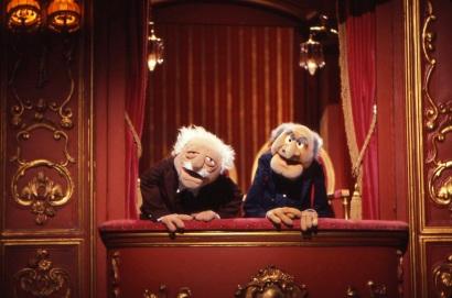 Statler et Waldorf, les deux personnages âgés et grincheux des Muppets
