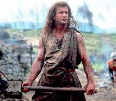 Mel Gibson jouant William Wallace dans Braveheart