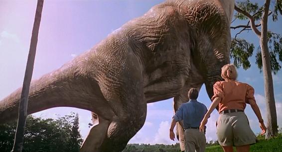 Alan Grant et Ellie Sattler découvrent des jolis dinosaures en images de synthèse.