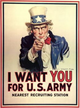 Affiche de recrutement de 1917. L'Oncle Sam Wants You for the U.S. Army