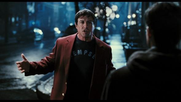 Rocky Balboa faisant la morale à son fils dans Rocky Balboa (2006)