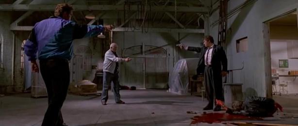 L'impasse mexicaine à la fin de Reservoir Dogs de Quentin Tarantino