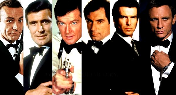 Les différents acteurs ayant joué James Bond