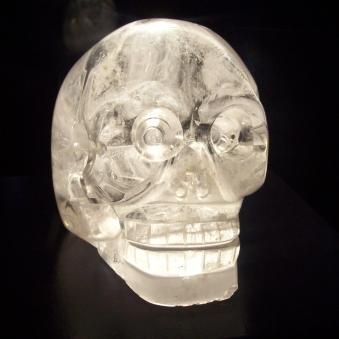Un vrai crâne de cristal exposé à Paris