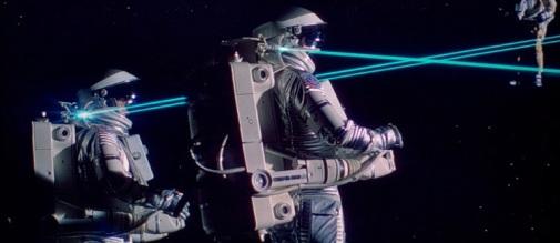 Piou piou ! Les rayons lasers dans l'E S P A C E !