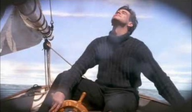 Truman faisant du bateau pour échapper à son quotidien.