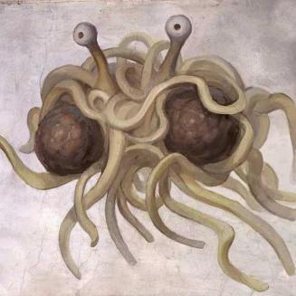 Le Flying Spaghetti Monster, une représentation joyeuse de Dieu